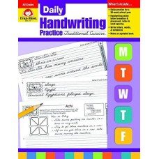 Daily Handwriting Practice, Traditional Cursive, All Grades