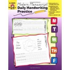 Daily Handwriting Practice Modern Manuscript