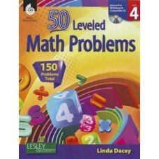53 Leveled Math Problems: Level 4 with CD