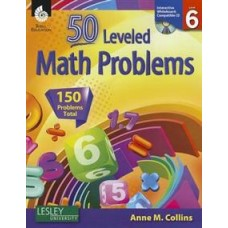 55 Leveled Math Problems: Level 6 with CD